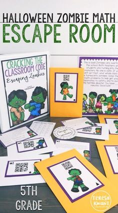 This fun Halloween escape room is perfect for your fifth grade classroom. Students in 5th grade will practice multiplication skills while trying to escape a mob of zombies that have overtaken the school. This fun math game is a great activity for the October and Halloween season. Students will be practicing math skills, while also collaborating and working together. As your class tries to breakout of the school that has been overrun with zombies, you can watch their multiplication skills…