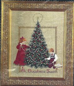 OH, CHRISTMAS TREE Lavender & Lace Victorian Design Cross Stitch Pattern Chart #LavenderLace #CountedCrossStitch