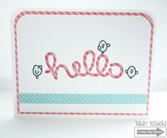 """CAS Hello Card by Handmade by Yuki 