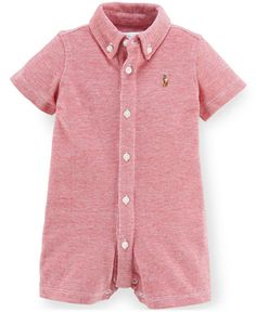 Ralph Lauren Baby Boys' Button-Up Oxford Shortall