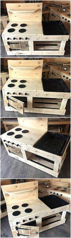 Pallets Hob Style Mud Kitchen