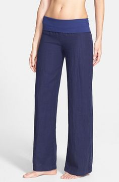 Solow Wide Leg Linen Pants available at #Nordstrom