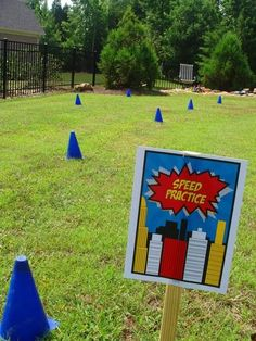 Superhero Training Academy - speed and agility course
