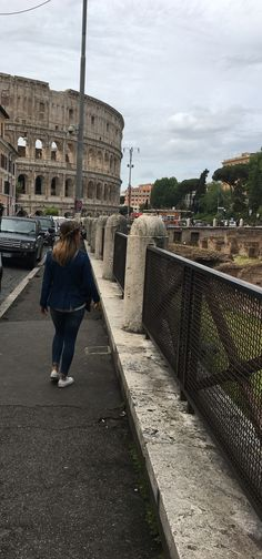 Street view Colosseum, Rome.