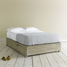 Kingsize First Base - Weathered Wood Storage Beds First Base - Bed bases | The Sleep Room