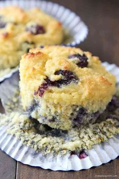 Almond Flour Blueberry Muffins Recipe - easy almond flour muffins that are gluten free