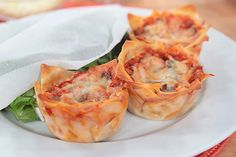 MuffinLasagna, easy made in a muffin tin.