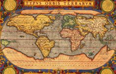On of the first accurate and complete (minus Australia) maps in the world  #maps