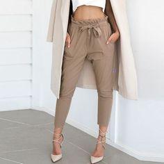 Loretta Paper-Bag Waist Pants - The Wild Flower Shop