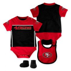 NFL San Francisco 49ers 3 Piece Baby Layette Set