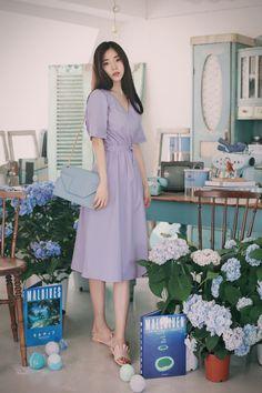 milkcocoa Korean Girl Fashion, Korean Fashion Trends, Ulzzang Fashion, Asian Fashion, Look Fashion, Long Skirt Fashion, Long Skirt Outfits, Modest Fashion, Dress Outfits