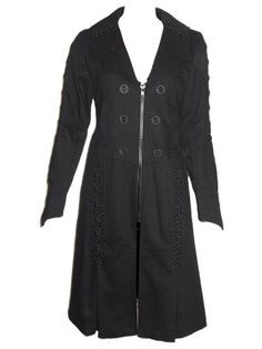 Last One To Clear Living Dead Souls Goth CoatSmall UK 8 Sale Clearance BIG SALE NOW ON AT mouseyessim on ebay