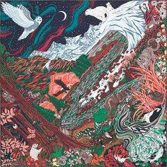 0537844eb72d Carré en twill 100 % soie, roulotté à la main (90 x 90 cm)   H les jardins    Pinterest   Carré hermes, Hermes et Carré