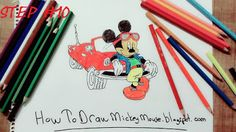 Easy Mickey Mouse Drawings and Sketches Mickey Mouse Drawings, Step By Step Drawing, Drawing Techniques, Easy Drawings, Full Body, Sketches, Color, Drawings, Colour