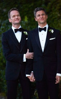 10 Of The Most Stylish Celebrity Weddings Of 2014 It's Official! Neil Patrick Harris And David Burtka Marry In Italy (Photos) Rihanna, Beyonce, Poppy Delevingne, Bridal Musings, Kelly Clarkson, Neil Patrick Harris Wedding, Celebrity Couples, Celebrity Weddings, Celebrity Babies