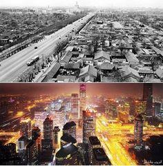 Beijing between the fifties and now