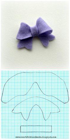 felt+hair+bow+template.jpg (600×1200)