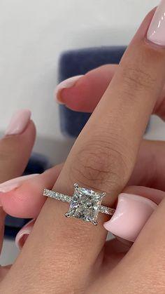 Princess Wedding Rings, Princess Cut Rings, Princess Cut Engagement Rings, Princess Cut Diamonds, Wedding Ring Set, Best Wedding Rings, Expensive Wedding Rings, Dream Wedding, Cute Engagement Rings
