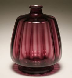 Large Leerdam glass vase designed by Andries Dirk Copier, circa 1928.