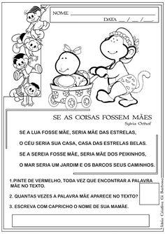 Atividade Dia das Mães - Se as coisas fossem Mães   Ideia Criativa - Gi Barbosa Educação Infantil