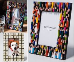 Recycled Pencil and Keyboard Photo Frames by Kare