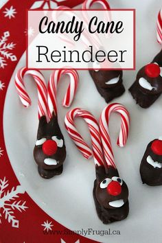 Learn how to make simple and cute Candy Cane Reindeer!