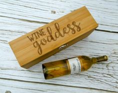 Laser Engraved Wine Box Wedding Wine Box with by OurBoardBoutique