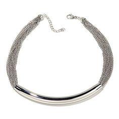 """Stately Steel Bold High-Polished 16"""" Bar Necklace Hsn Jewelry, Bar Necklace, Steel, Bracelets, Silver, Bracelet, Bangles, Bangle, Arm Bracelets"""