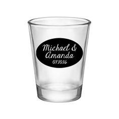 100x Classic Round Custom Wedding Shot Glasses by #BarternderWorks on #Etsy. Perfect Wedding Mementos to Remember Your Special Day! #Weddings #WeddingParty #WeddingFavors #Bride #Groom #ClassicWedding #SickkJunctions