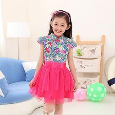 2015-vestido-sem-mangas-de-impressão-crianças-roupas-meninas-azul-e-branco-vestido-de-princesa-3.jpg (708×708)