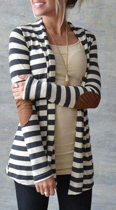 Thin Striped Cardigan