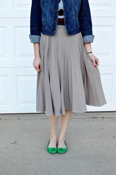 Jean jacket with skirt Head over to my new blog for advice and encouragement regarding modesty. Here's the website: http://modest-teen.blogspot.com