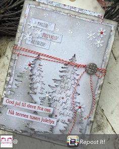 Jul i september 🎅🏻I dag viser jeg årets første julekort for Christmas Cards To Make, Xmas Cards, Christmas Ideas, Christmas Scrapbook, Cardmaking, Card Ideas, September, Scrapbooking, Tags