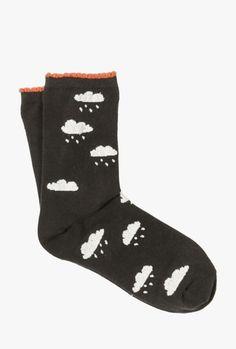 Cloudy w Chance Rain Crew Sock #ad