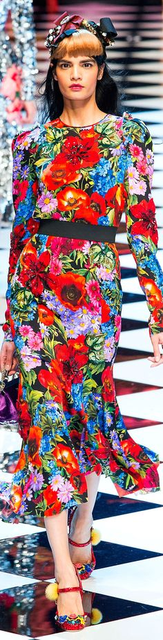 Dolce and Gabbana fall 2016 RTW- I hope they keep doing these Brights too after the darker AW.