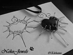 """Black Passion"" handmade (by me ^^ Elehanne on deviantART) with polyer clay and wire  ^___^"