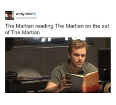 Matt Damon reading The Martian Matt Damon, Andy Weir, Dane Dehaan, Ridley Scott, Fandoms, Phoebe Tonkin, The Martian, Dylan O'brien, Along The Way