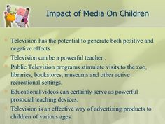 positive effects of television essay Television is constantly being criticised as being bad for children one of the first arguments to come up is the effect that violent tv has on children it is a valid argument as most of the time tv violence begs for imitation because violence is demonstrated and promoted as a fun and effective way to get what you want.