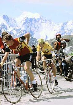 PYRENEEEN: Joop Zoetemelk met de gele trui, op weg naar de finish van de 67ste Ronde van Frankrijk ANPFOTO/ANP