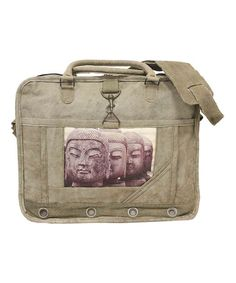 Loving this Tan Buddha Laptop Bag on #zulily! #zulilyfinds