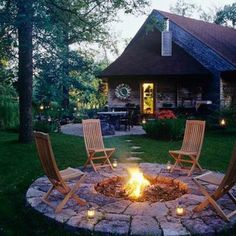 Fire pit idea from: https://www.facebook.com/WithaView