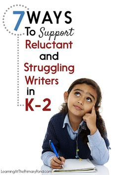 Lots of ideas for helping reluctant writers or struggling writers in this post! Numbers 4 and 7 are my favorites!