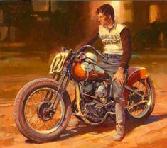 The Official Website of Tom Fritz Bike Poster, Motorcycle Posters, Motorcycle Art, Bike Art, Harley Davidson Art, Harley Bikes, Classic Bikes, Sports Art, Vintage Bikes