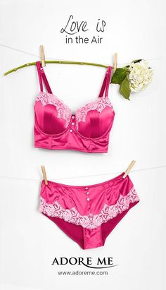 Love is in the air! | Adore Me's Valentine's Day Lingerie Collection, available in 32A-42G ♥