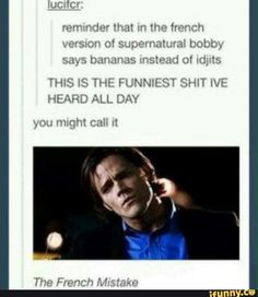 """Okay but Bobby's death scene would have been much harder to take seriously if his last word was """"bananas."""""""