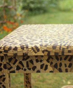 Mosaic leopard print table