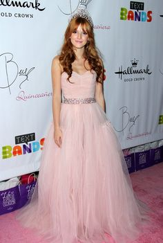 Bella Thorne's Quinceanera in Los Angeles  I would add sleeves and more chest coverage.