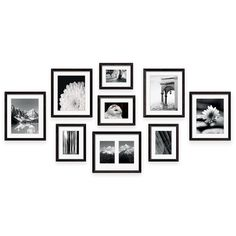 Swing Design 9 - Piece Frame Gallery In Black | Havenly