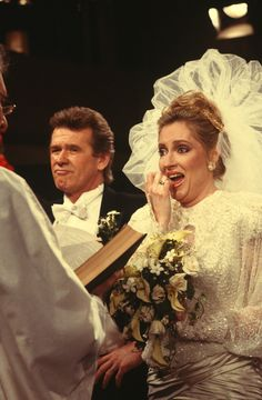 "1980s Port Charles' most unlikely couple got together when former secret agent Sean Donely (John Reilly) married former B-movie star Tiffany (Sharon Wyatt) on ABC Daytime's ""General Hospital"". Bridegroom Sean couldn't hold back the snickers upon hearing his bride's real name for the very first time (Elsie Mae Crumholtz) during their wedding ceremony."