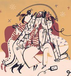 Bookish - Roman Muradov. I like his fluid line